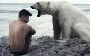 Картинка ситуация, медведь, парень