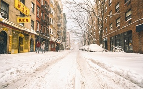 Обои snow, New York, winter