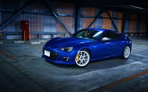 Картинка Subaru, Blue, BRZ, Wheels, Whie