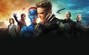 Картинка Old, Patrick Stewart, Mystique, Jennifer Lawrence, X-Men: Days of Future Past, James McAvoy, Girl, Erik, ...