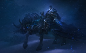 Картинка WoW, World of Warcraft, Warcraft, Arthas, Arthas Menethil, King of the fallen Lordaeron