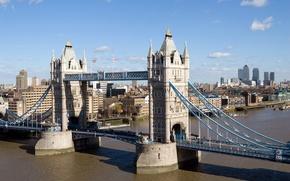 Обои london, Лондон, мост, река