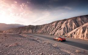 Картинка McLaren, Orange, Carver, Front, Death, Sand, Supercar, Valley, Hypercar, Exotic, Canyon, Volcano, Folk