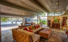 Картинка pacific ocean, living room, home, luxury, hawaii, boat