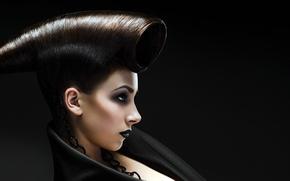 Картинка девушка, волосы, прическа, губы