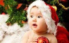 Картинка дети, ребенок, Новый год, красивая, new year, happy, beautiful, merry christmas, baby, christmas tree, children, …