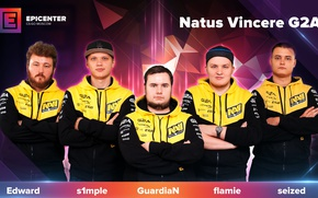 Картинка simple, valve, ukraine, global offensive, navi, cs:go, edward, navi team, guardian, flamie, sized, epicenter