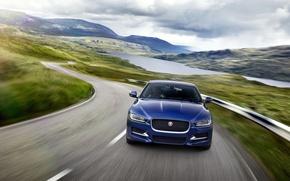 Картинка дорога, скорость, Jaguar XE R Sport