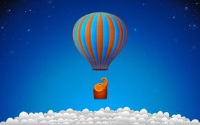 Обои шар, воздушный, облака