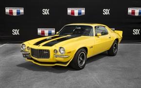 Обои 1970, chevrolet, camaro, z28,  hurst sunshine special, prototype