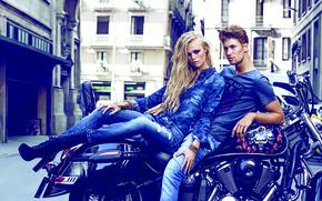 Картинка стиль, джинсы, реклама, модели, мода, The Denim News