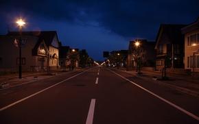 Картинка Ночь, Улица, Фонарь