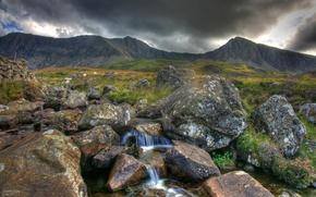 Обои вода, река, горы, природа
