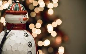 Картинка праздник, игрушка, Snowman