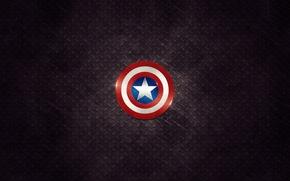 Картинка знак, звезда, минимализм, герой, щит, star, minimalism, sign, 2560x1600, hero, shield, Captain america