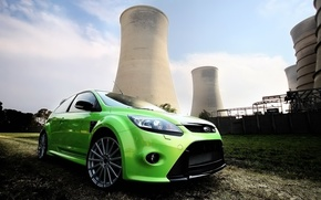 Картинка green, ford, station, focus, electrical
