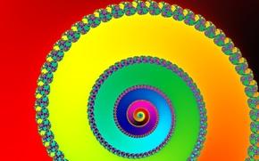 Картинка свет, узор, цвет, радуга, спираль