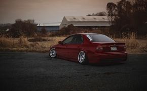 Картинка тюнинг, red, Honda, Accord, красная, хонда, аккорд, stance