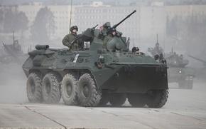 Картинка Солдаты, 9 мая, БТР, Парад