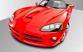 Обои авто, красный, вектор