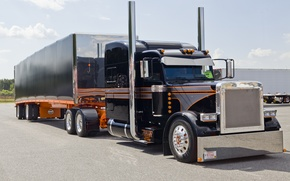 Обои truck, custom, semi show, peterbilt