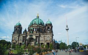 Картинка город, архитектура, достопримечательность, путешествие, туризм, германия, берлин