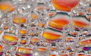 Обои пузырьки, пена, цвет, блеск, объем