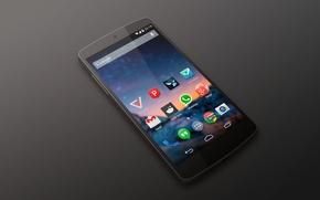 Картинка Kit Kat, by LG, Nexus 5, Smartphone, Android, Google, Black