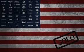 Картинка флаг, америка, логотипы, бренды
