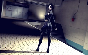 Картинка девушка, мутант, наемник, marvel comics, Domino, Neena Thurman