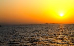 Картинка Закат, Море, Лето, Египет, Пески