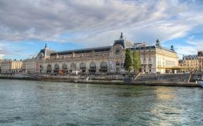 Картинка река, Франция, Париж, Сена, музей д'Орсе