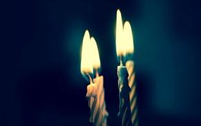 Картинка фон, настроение, огонь, пламя, widescreen, обои, свеча, свечи, wallpaper, разное, широкоформатные, background, свечки, полноэкранные, HD …