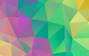Обои цвет, линии, треугольник, ребро, грань