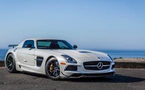 Картинка Mercedes, AMG, Black, SLS, Series
