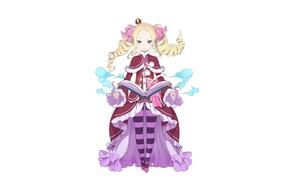 Картинка фон, магия, девочка, книга, anime, art, Beatrice, Re: Zero kara Hajimeru Isekai Seikatsu