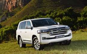 Картинка белый, внедорожник, Toyota, тойота, ланд крузер, Land Cruiser 200