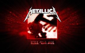Картинка Metallica, обложка, Kill them all, первый альбом 1983 года