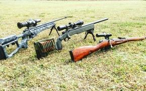 Картинка трава, оружие, оптика, снайперские винтовки