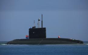 Картинка лодка, ВМФ, подводная, дизельная, проект 636.3, Ростов на Дону