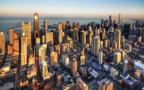 Обои Чикаго, здания, небоскребы