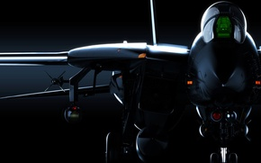 Картинка графика, арт, dark knight, Grumman Aircraft Engineering Corporation, siregar3d, Super Tomcat, F-14D