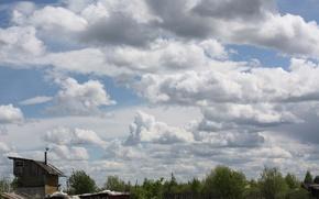 Картинка небо, тучи, Облака