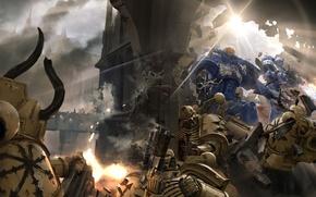 Картинка война, доспехи, броня, Warhammer, 000, space marine, Warhammer 40, Warhammer 40K, WH40K, Black Library: Dark ...