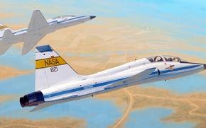 Картинка рисунок, арт, NASA, Northrop, Talon, T-38C