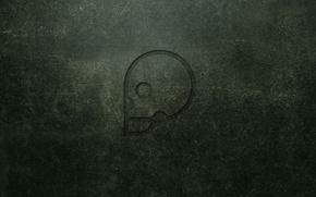 Обои стена, череп, минимализм