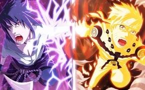 Обои Anime, naruto, sasuke
