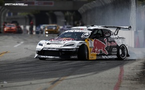 Обои long beach, speedhunters, rx-8, formula drift, red bull, drift, mazda