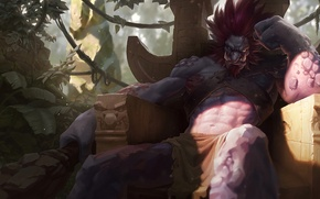 Картинка арт, тролль, League of Legends, Trundle, Mitchell Malloy