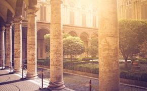 Картинка город, сад, архитектура, холл